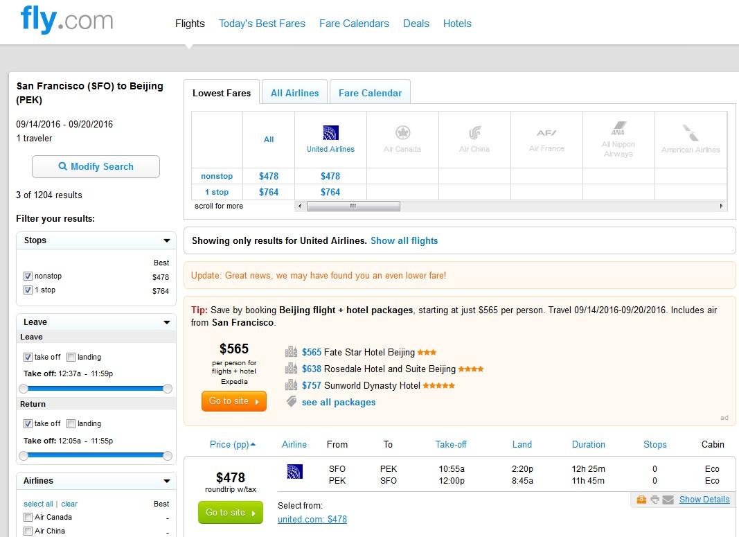 478 San Francisco To Beijing Nonstop R T Fly Com