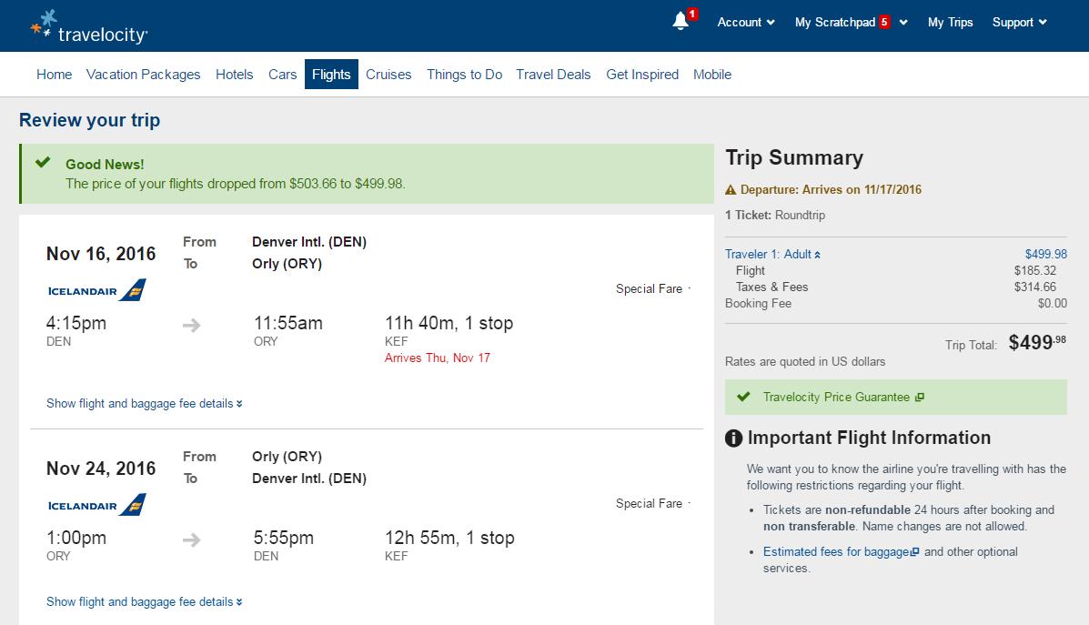 504 531 Denver To Paris Incl Holidays R T Fly