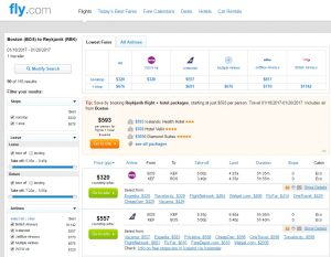 Boston to Iceland: Fly.com Results