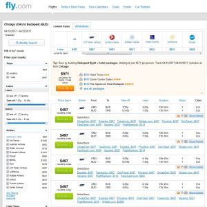 CHI-BUD: Fly.com Search Results