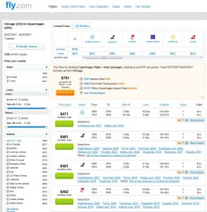 CHI-CPH: Fly.com Search Results
