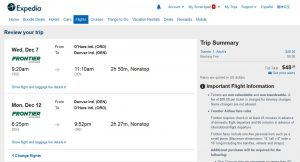 CHI-DEN: Expedia Booking Page