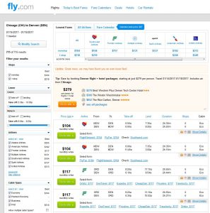 CHI-DEN: Fly.com Search Results ($117)