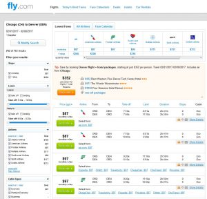 CHI-DEN: Fly.com Search Results ($87)