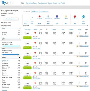 CHI-DUB: Fly.com Search Results ($501)