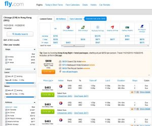 CHI-HKG: Fly.com Search Results ($463)