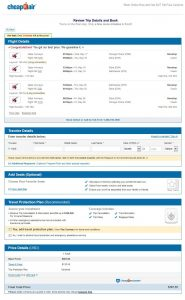 CHI-KTM: CheapOair Booking Page