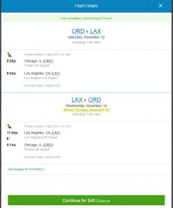 CHI-LAX: Priceline Booking Page