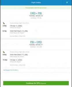 CHI-PBI: Priceline Booking Page