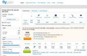 CHI-SJD: Fly.com Search Results (NOV)