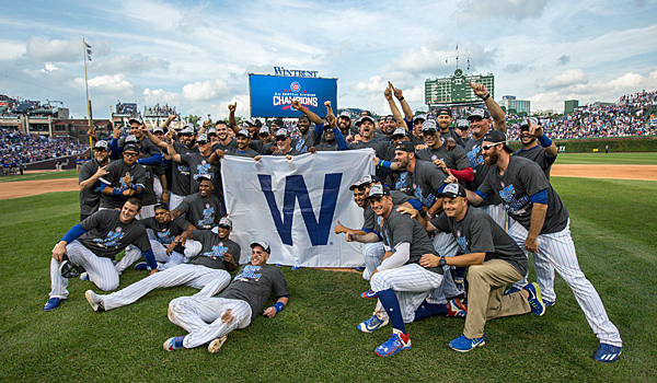 Cubs celebrate winning the 2016 NL Central Division Championship at Wrigley Field (Photo by J.Geil for Chicago Cubs)
