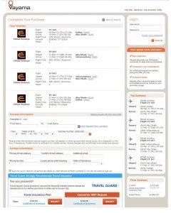 DFW-JNB: Vayama Booking Page ($697)
