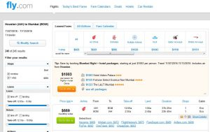 IAH-BOM: Fly.com Search Results ($693)