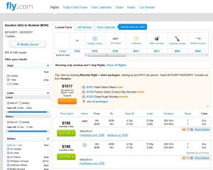 IAH-BOM: Fly.com Search Results ($791)