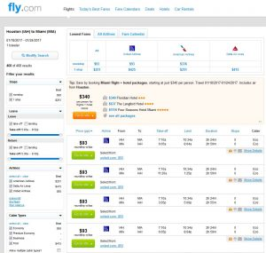 IAH-MIA: Fly.com Search Results ($93)