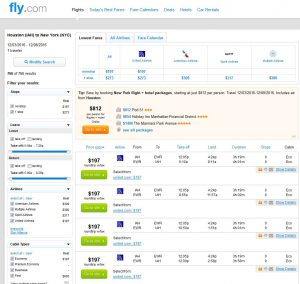 IAH-NYC: Fly.com Search Results