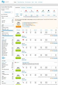 IAH-TYO: Fly.com Search Results ($602)