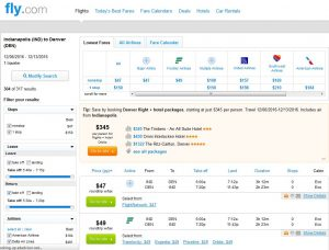 IND-DEN: Fly.com Search Results