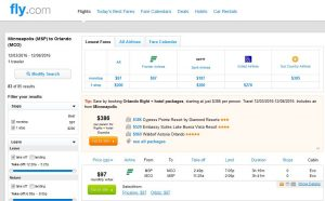 MSP-MCO: Fly.com Search Results