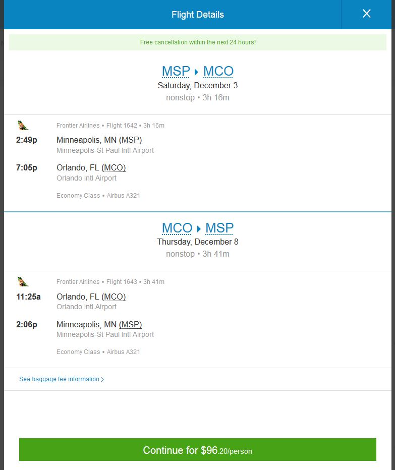 57 97 St Louis Amp Minneapolis To Orlando Nonstop R T