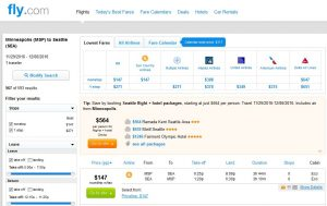 MSP-SEA: Fly.com Search Results ($147)