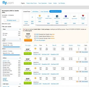 MSP-SEA: Fly.com Search Results ($187)