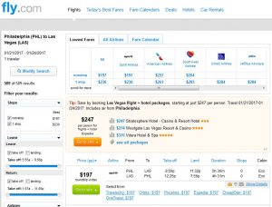 PHL-LAS: Fly.com Search Results