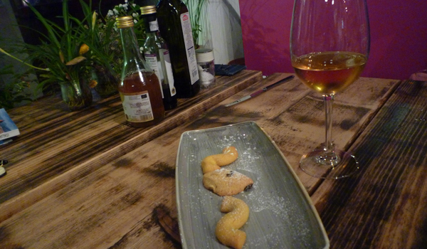 Biscotti and a Glass of Sweet Wine (Godfrey Hall)