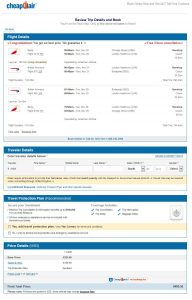 CHI-BUD: CheapOair Booking Page ($481)