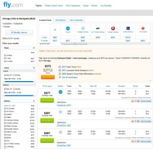 CHI-BUD: Fly.com Search Results ($481)