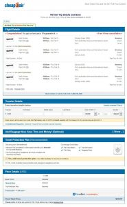 CHI-CUN CheapOair Booking Page