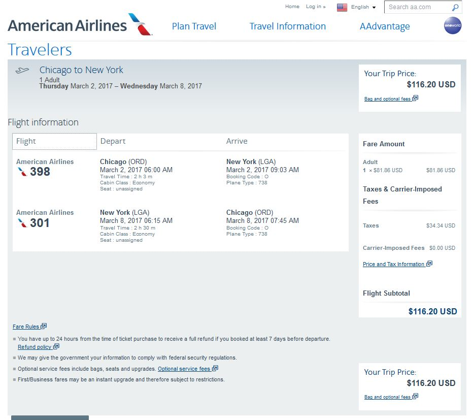 107 117 Chicago To New York City Nonstop Into March