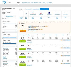CHI-NYC Fly.com Search Results ($117)