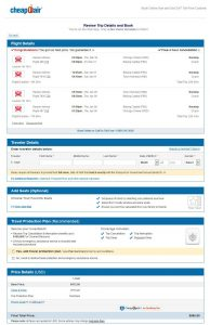 CHI-TYO CheapOair Booking Page