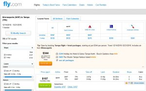 MSP-TPA: Fly.com Search Results