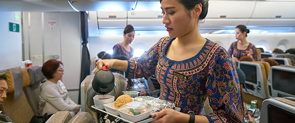 Singapore Airlines In-Flight Meals