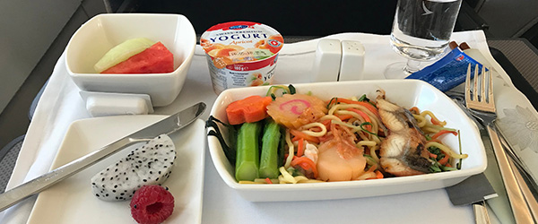 Cathay Pacific In-Flight Meals