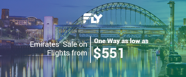 $551 and Up; One Way - Emirates' Sale on Flights from Newcastle; Ends 11/25