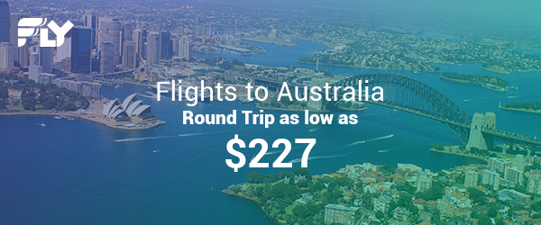 $227 and Up; One Way - Super Cheap Flights to Australia; Ends 11/22