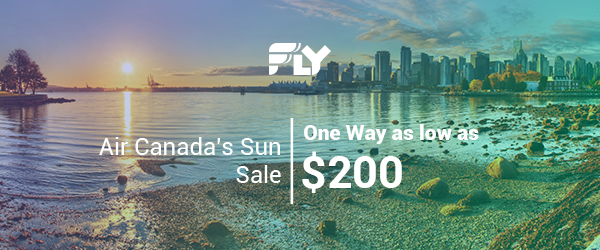 $200 and Up; One Way - Air Canada's Sun Sale; Ends 12/11