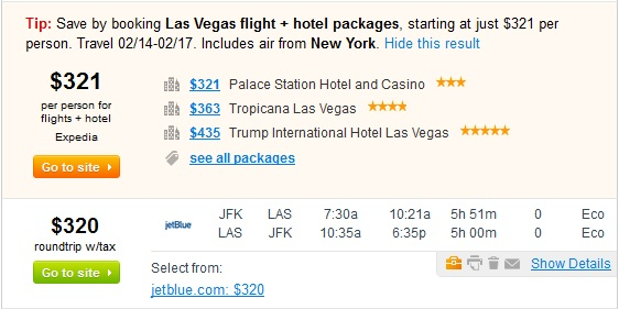Vacation Packages on Fly.com