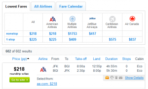 Fly.com Search Results: $218 - New York City to Barbados Nonstop Roundtrip