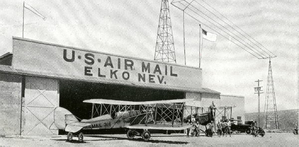 Elko, Nevada Airmail Hangar and Plane