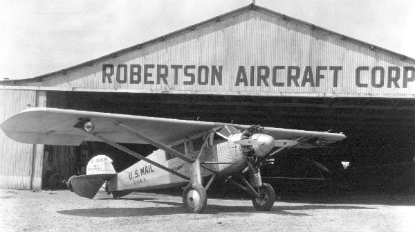 Robertson Aircraft Corporation Hangar and Plane (1928)
