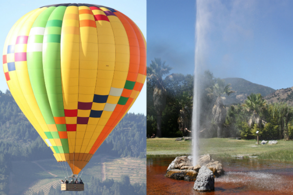 Hot Air Balloon Ride and Old Faithful Geyser