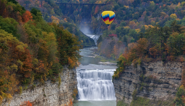 Balloon over Letchworth State Park, New York