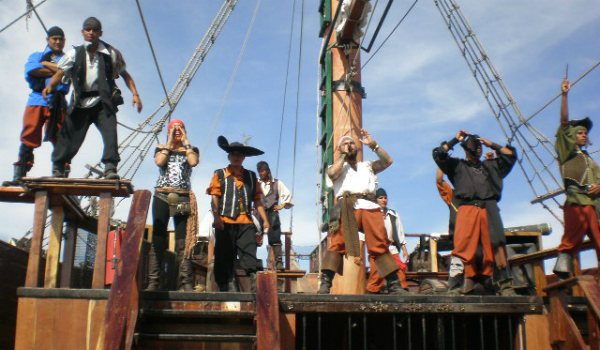 Aboard the Pirate Ship
