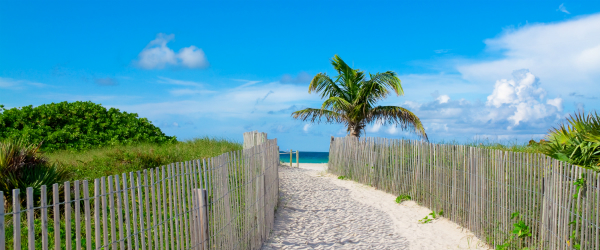 Sandy Path Leading to South Beach Miami