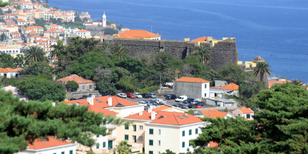 The beautiful sea front of Funchal