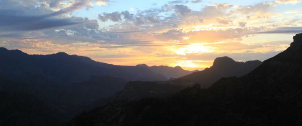 Sunset from La Cilla Restaurant